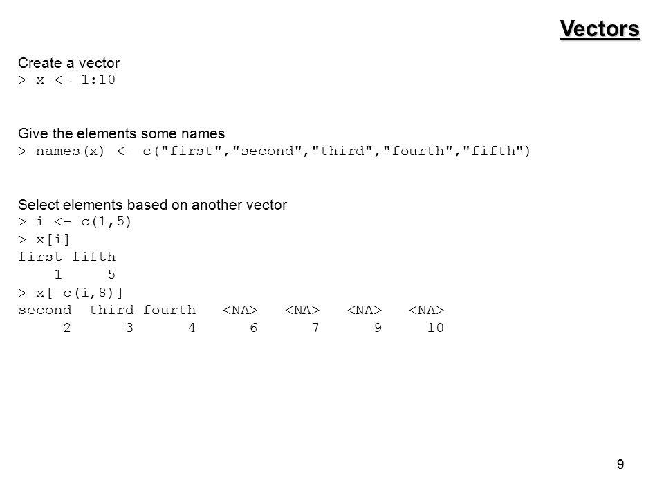 50 paste > sites <- LETTERS[1:6] > paste( Site , sites) [1] Site A Site B Site C Site D Site E Site F > paste( Site , sites, sep = - ) [1] Site-A Site-B Site-C Site-D Site-E Site-F > paste( Site , sites, sep = _ , collapse = , ) [1] Site_A,Site_B,Site_C,Site_D,Site_E,Site_F