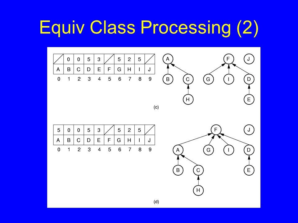 Equiv Class Processing (2)