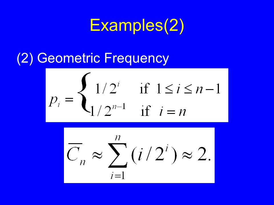 Examples(2) (2) Geometric Frequency