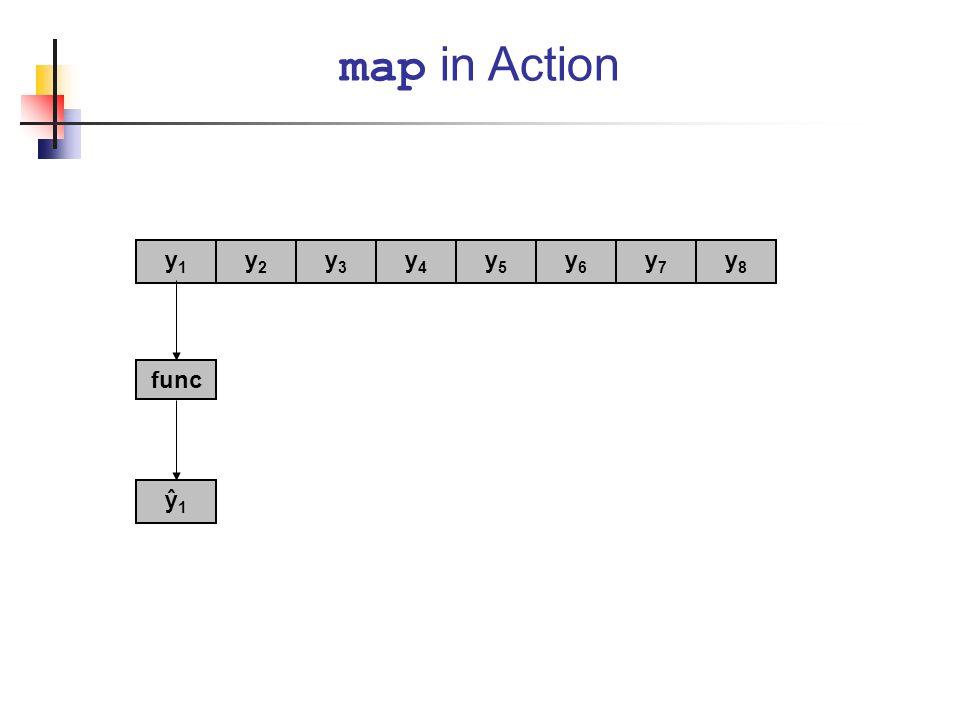 map in Action func y1y1 y2y2 y3y3 y4y4 y5y5 y6y6 y7y7 y8y8 ŷ1ŷ1