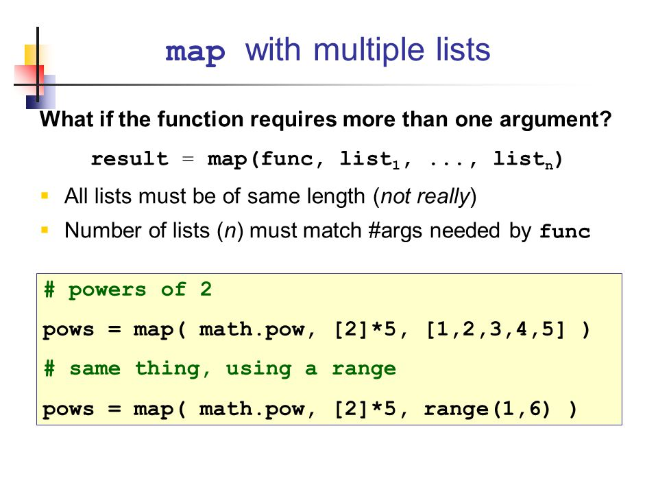 What if the function requires more than one argument.