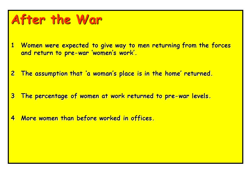 Key points Women were in great demand for the 'caring' side of employment and became nurses in the First Aid Nursing Yeomanry, and drivers and clerks in Voluntary Aid Detachments.