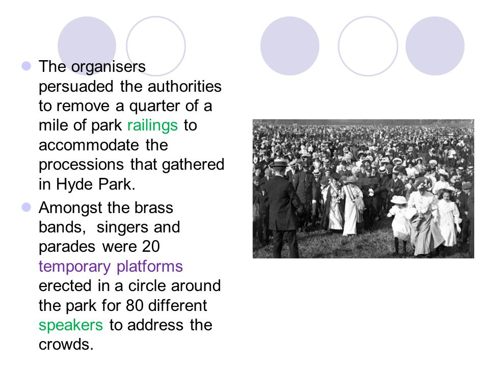 It was a highly organised demonstration attracting a crowd of 200,000 – one of the largest single demonstrations ever up to that time.