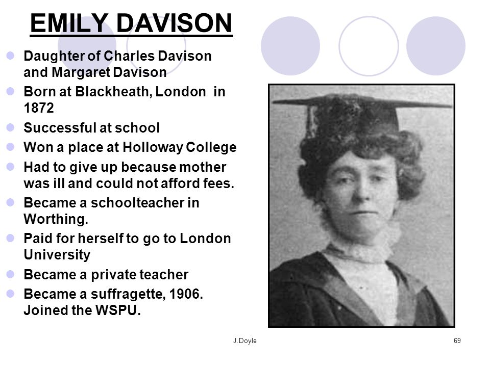 J.Doyle68 WOULD YOU KILL YOURSELF TO GET THE VOTE? EMILY DAVISON