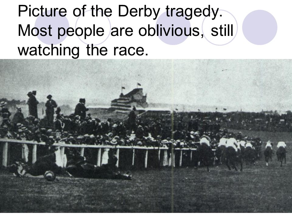 J.Doyle74 THE WITNESS She stood alone there, close to the white- painted rails where the course bends round at Tattenham Corner; she looked absorbed and yet far away from everybody else and seemed to have no interest in what was going on round her.