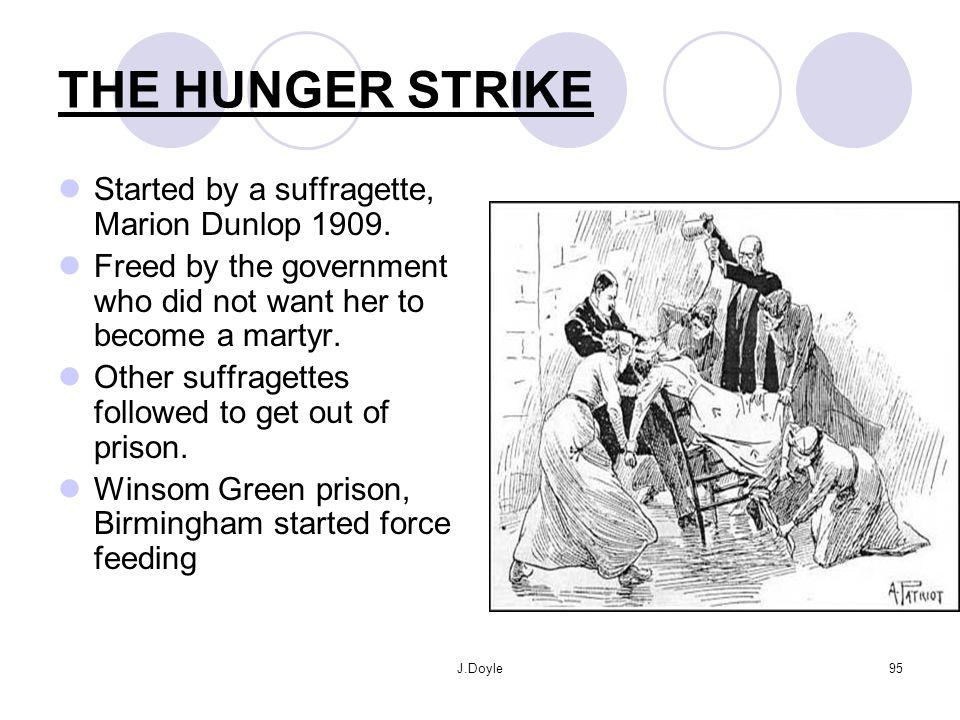 A Suffragette demonstrates.