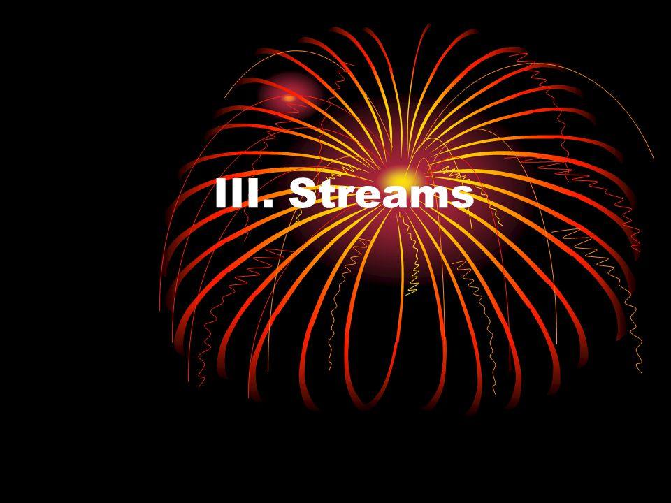 III. Streams