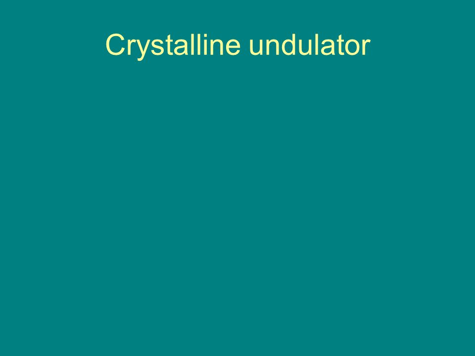 Crystalline undulator