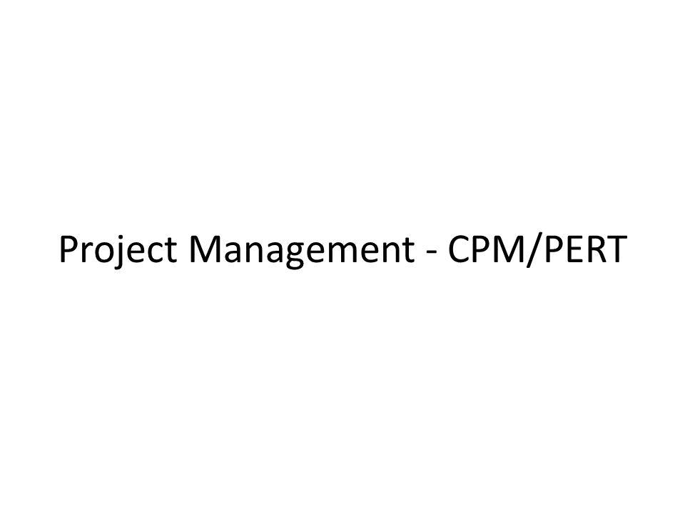Project Management - CPM/PERT