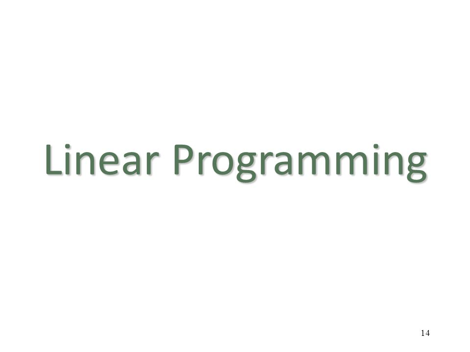 Linear Programming 14