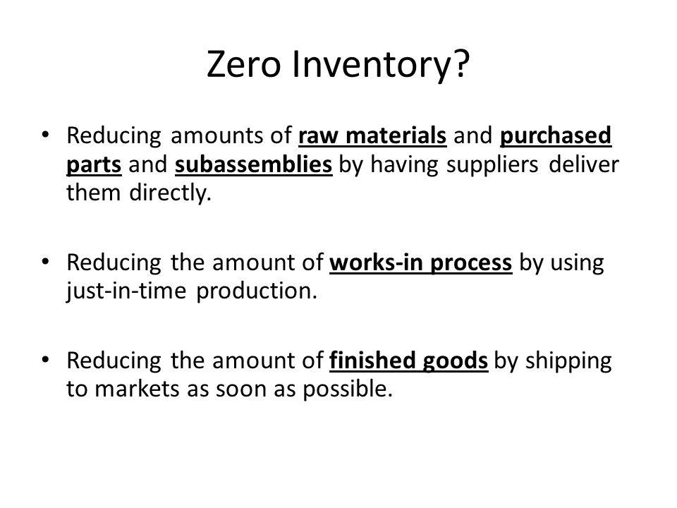 Zero Inventory.
