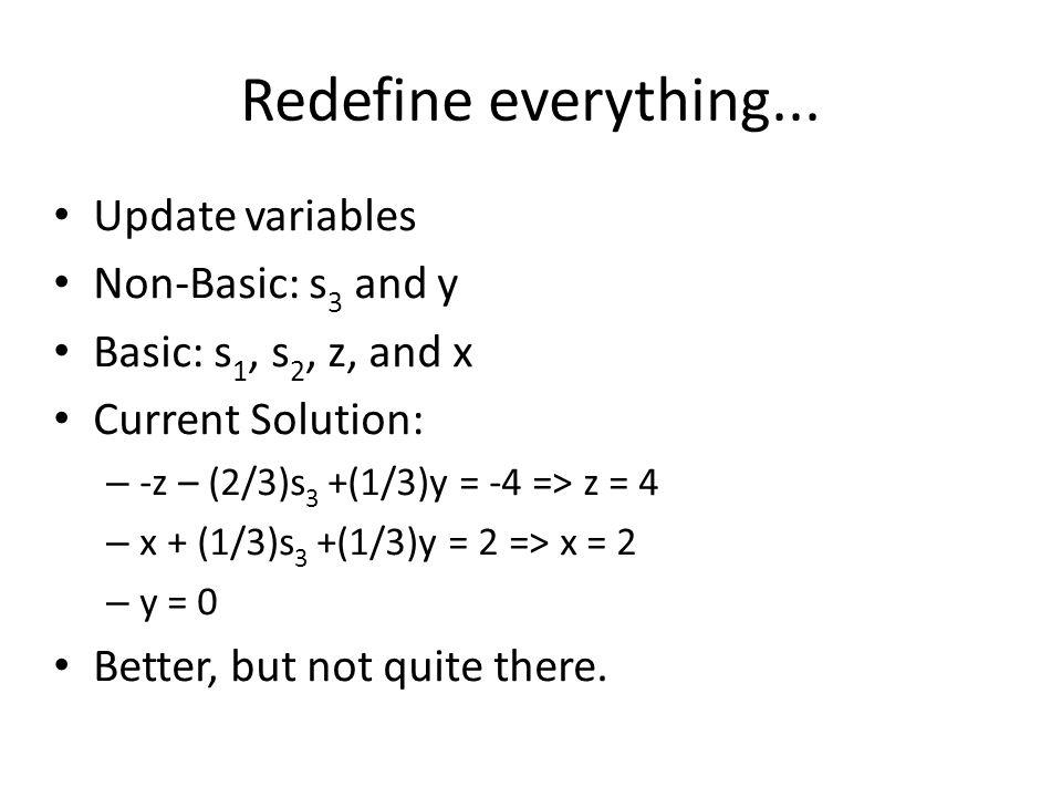 Redefine everything...