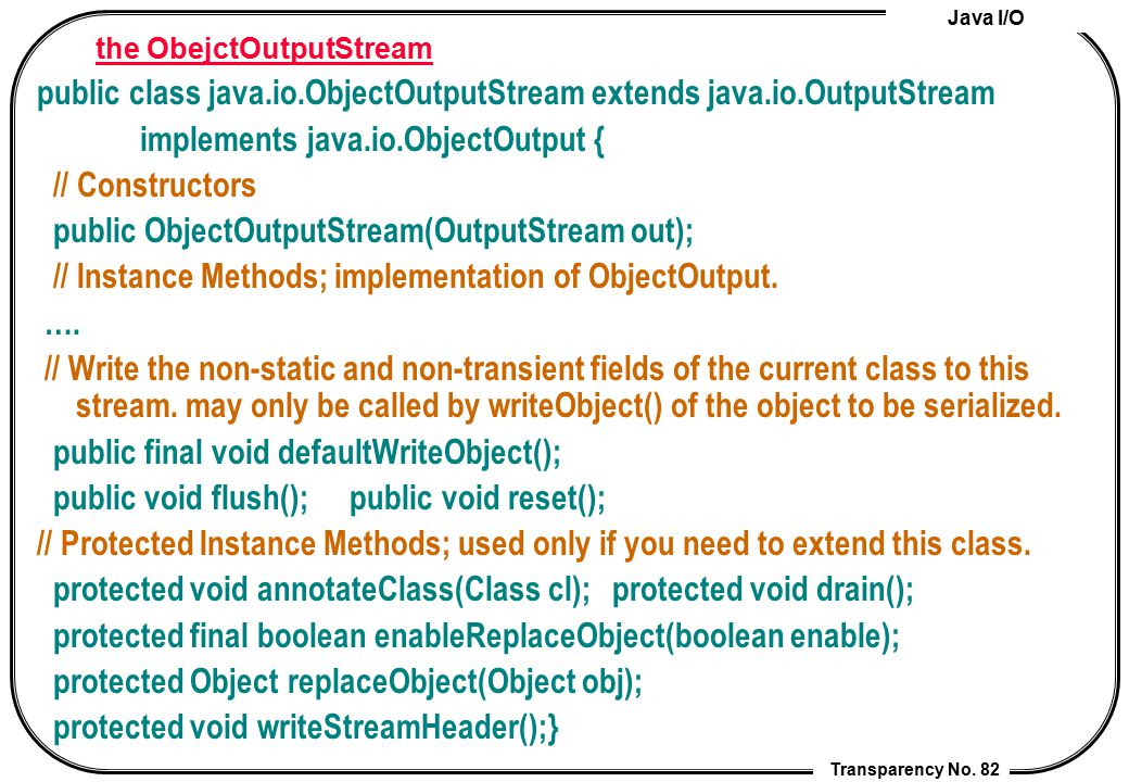 Java I/O Transparency No.