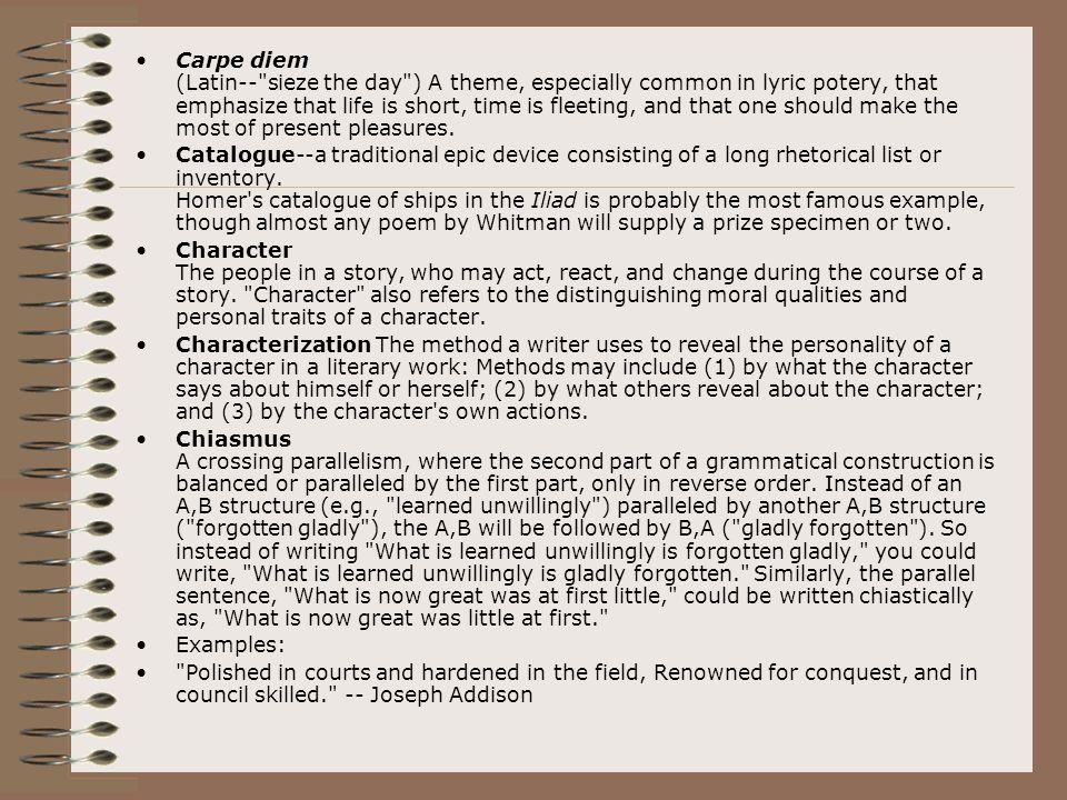 Carpe diem (Latin--