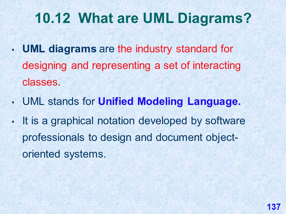 10.12 StudentTestScores UML Diagram The StudentTestScores program is large enough and complex enough to require a UML diagram to show the relationships between all of the classes in the program.