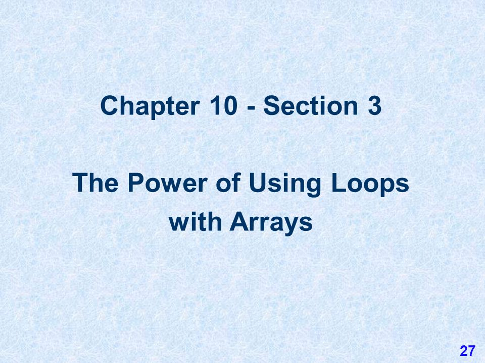 10.2 Simple Array Manipulations Assume that the array a contains the 5 integers: 34, 23, 67, 89, and 12 in that order.