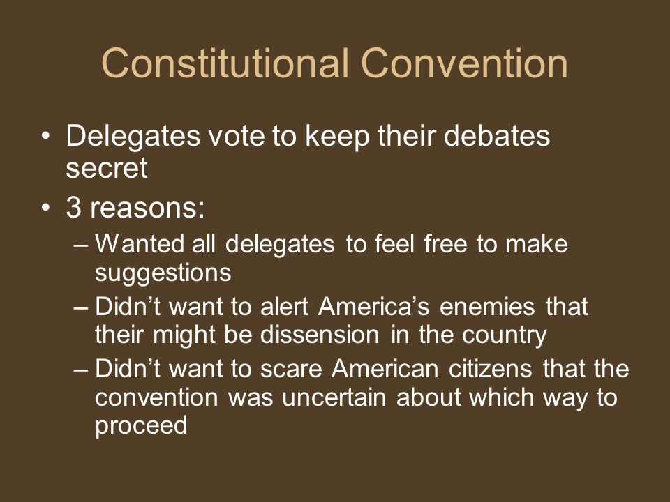 Constitutional Convention James Madison kept a diary of the debates He is known as the Father of the Constitution Madison s Notes of Debates in the Federal Convention of 1787 remain the most complete record of the convention