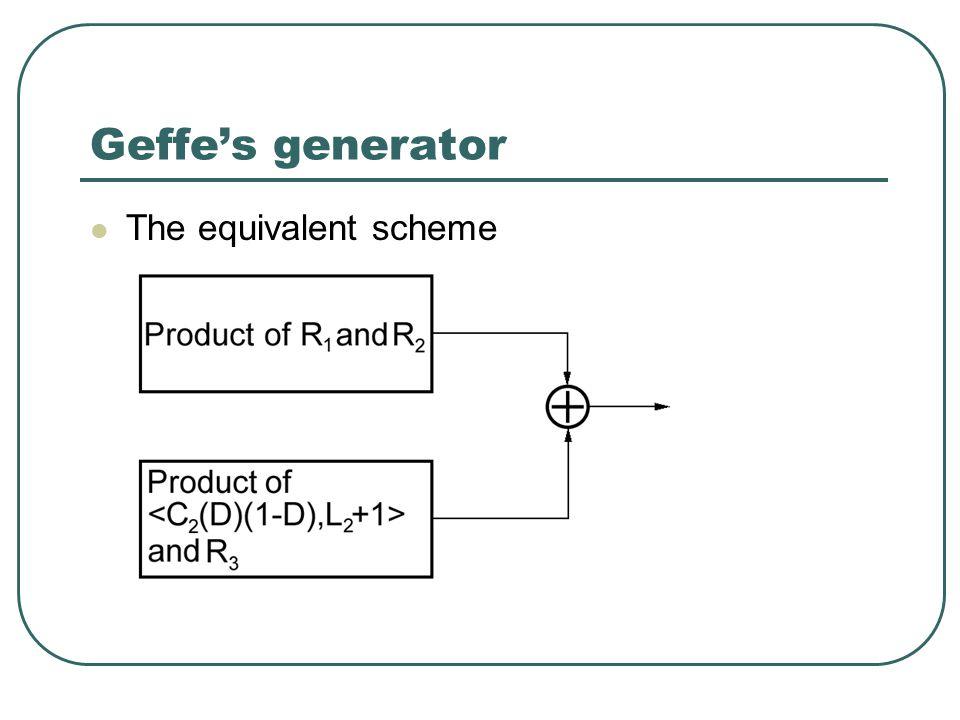 Geffe's generator The equivalent scheme