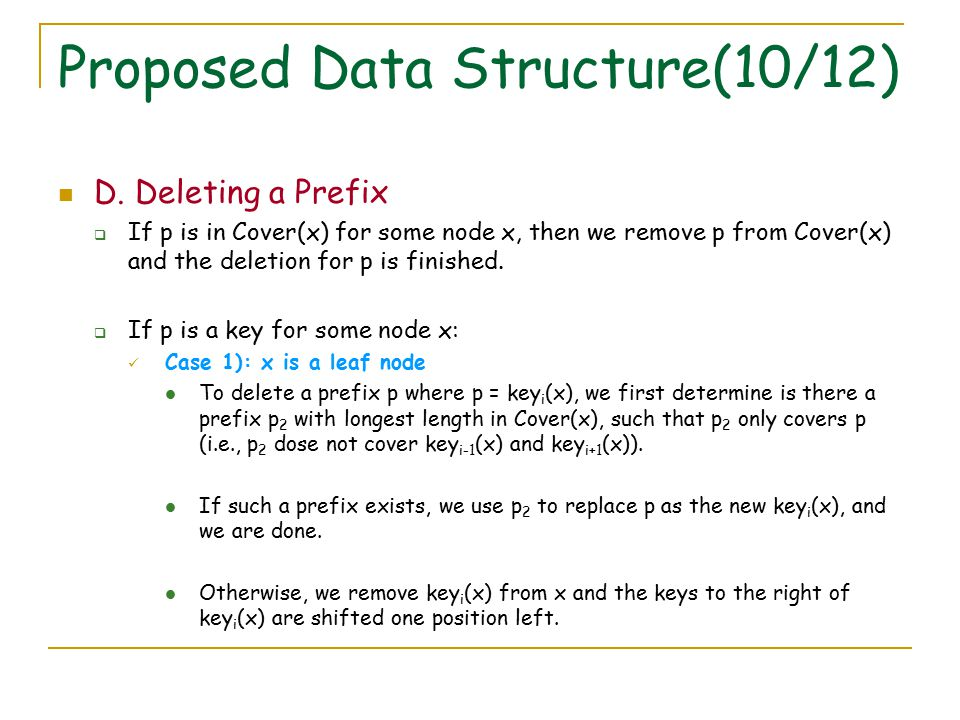 Proposed Data Structure(10/12) D.