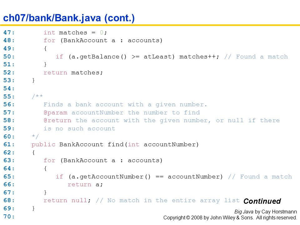 Big Java by Cay Horstmann Copyright © 2008 by John Wiley & Sons.