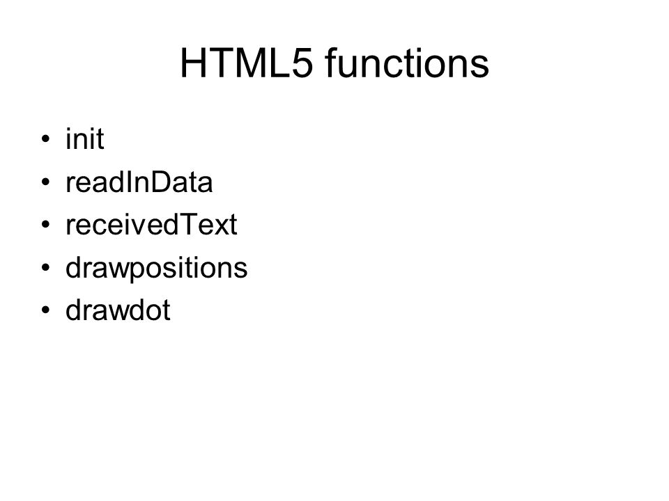 HTML5 functions init readInData receivedText drawpositions drawdot
