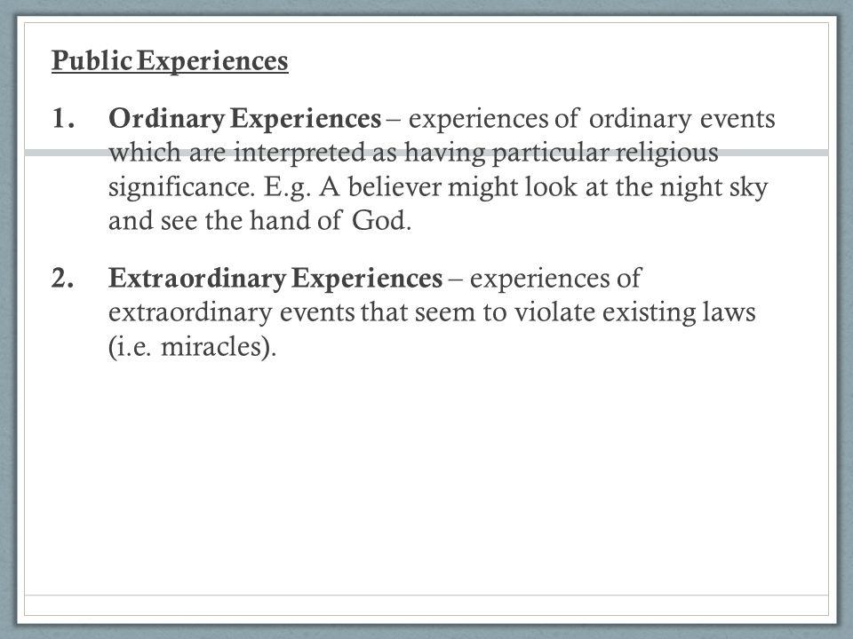Public Experiences 1.