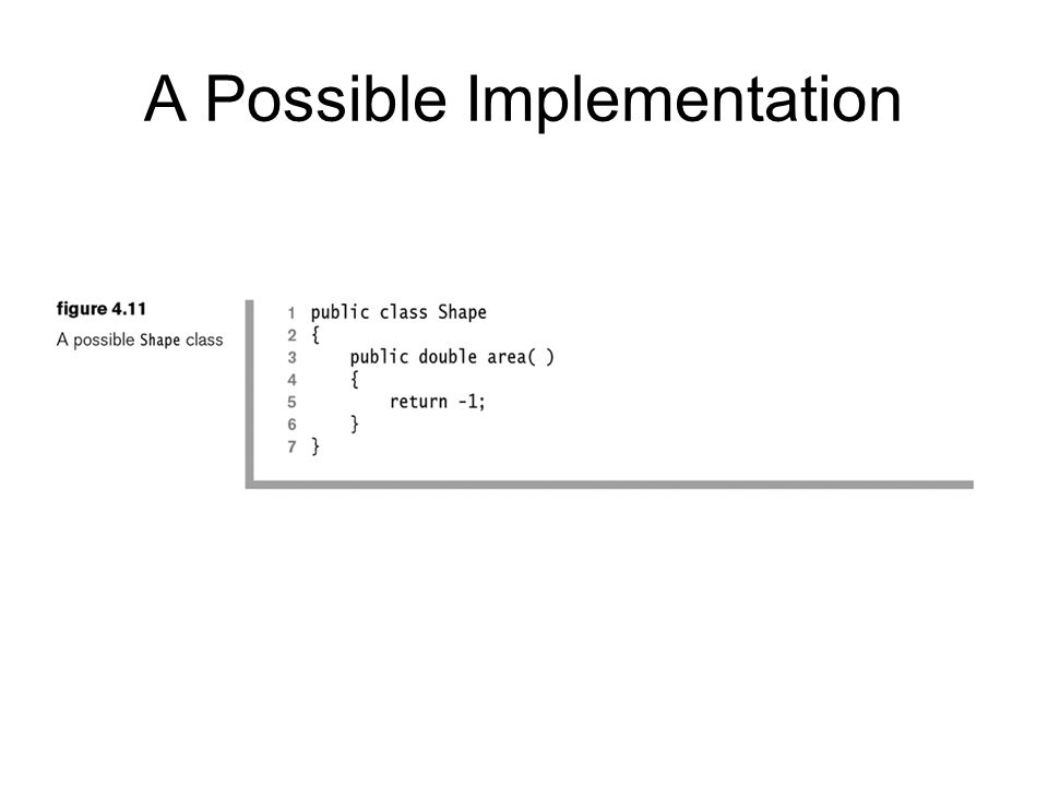 A Possible Implementation