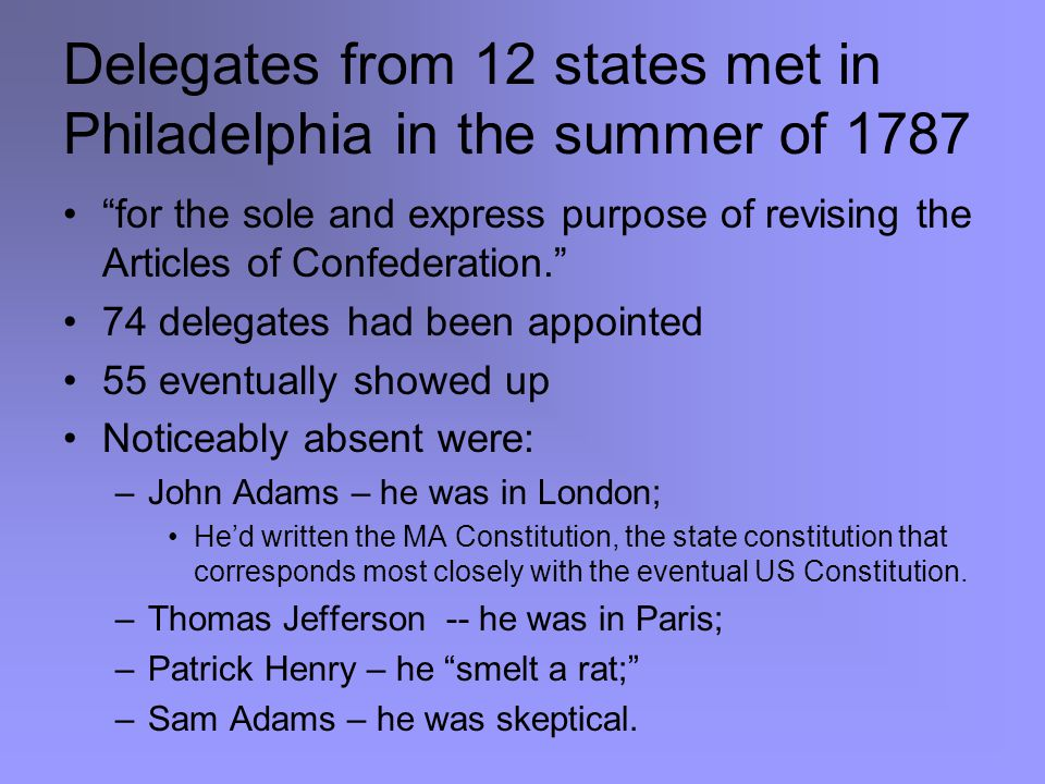The Great Compromise VA plan: two chambers, both based on population NJ plan: one chamber; equality of states Compromise saved convention Lower chamber (House) with representation based on population (proportional) –Incorporated 3/5 clause Upper chamber (Senate) with equality for states