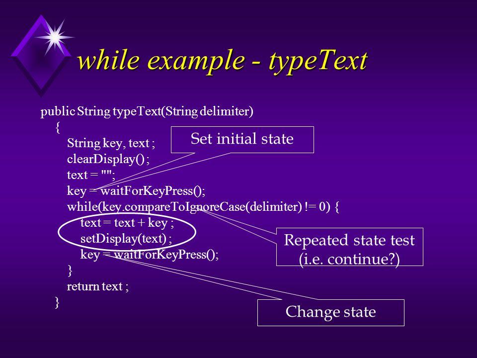 Enhanced for/for-each syntax for( elementtype var : arrayname) { loop body // e.g.