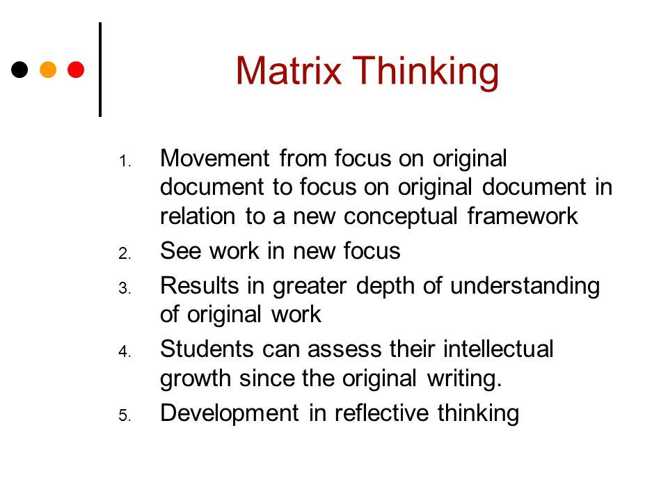 Matrix Thinking 1.