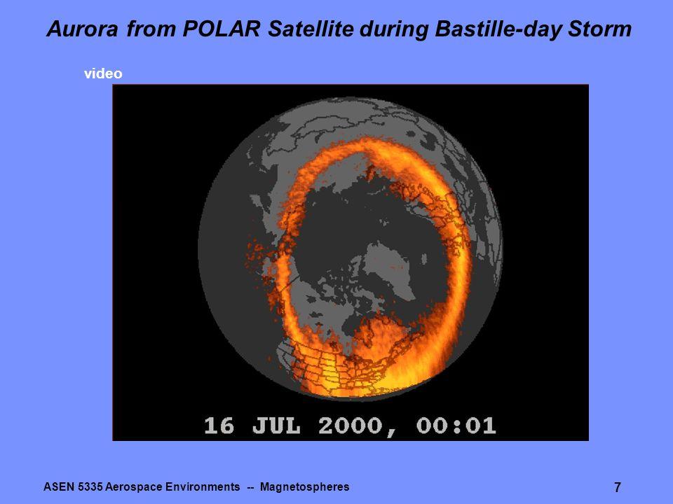 ASEN 5335 Aerospace Environments -- Magnetospheres 7 Aurora from POLAR Satellite during Bastille-day Storm video