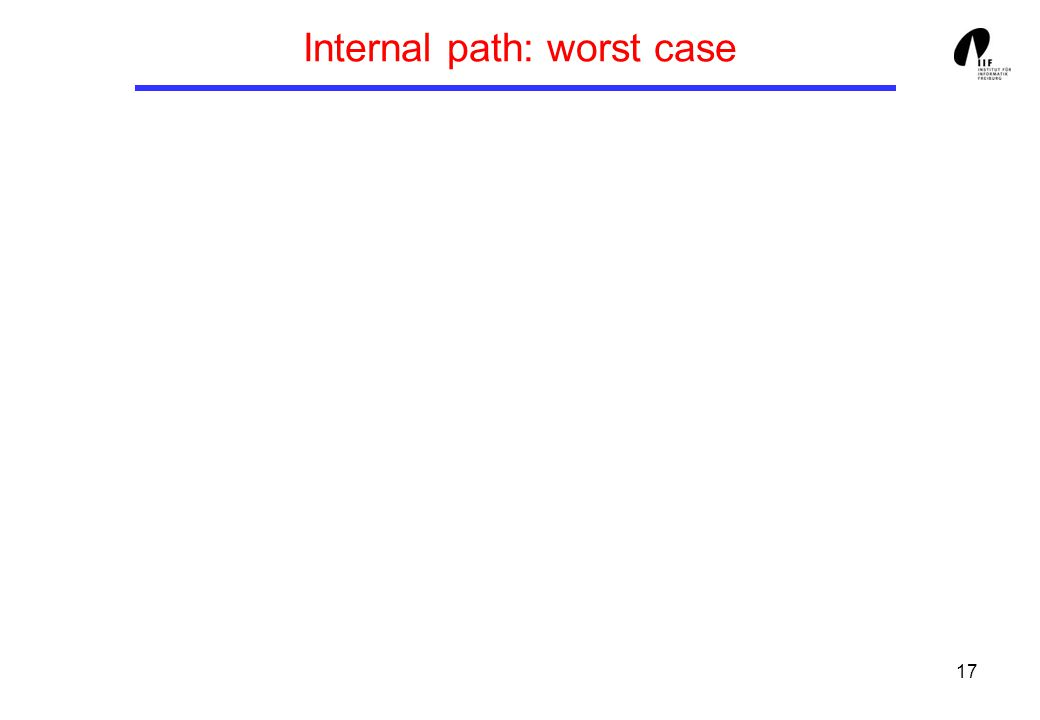 17 Internal path: worst case