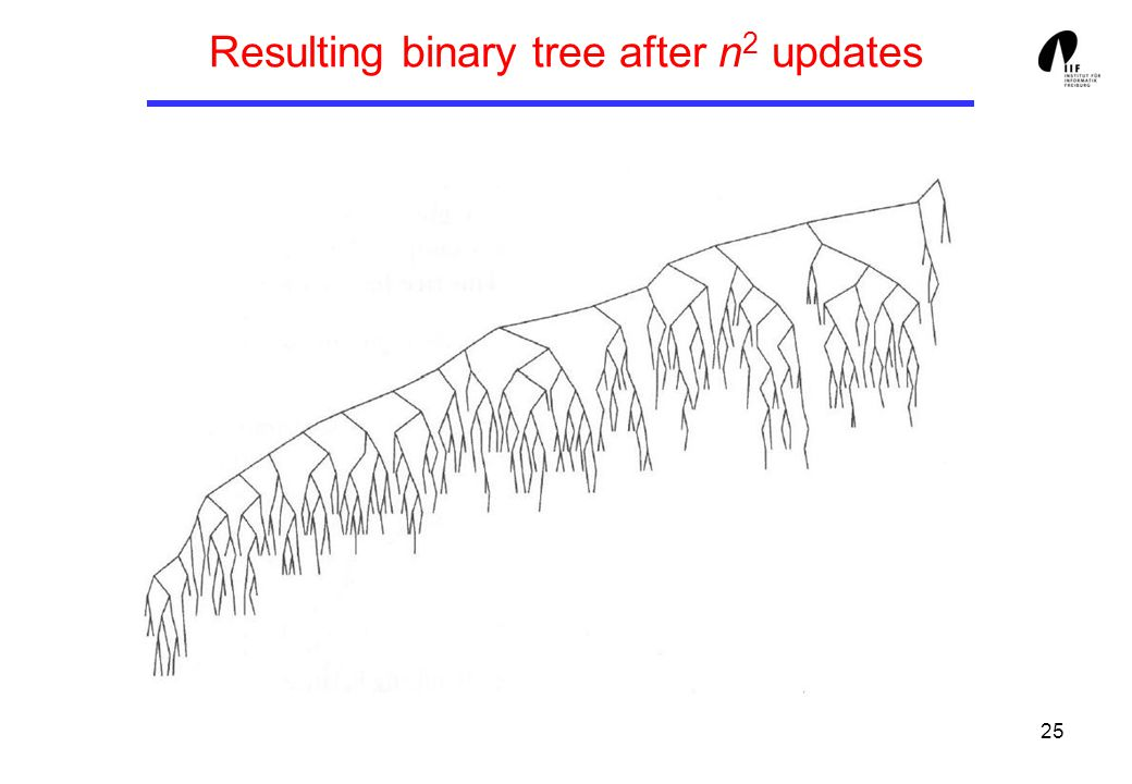 25 Resulting binary tree after n 2 updates