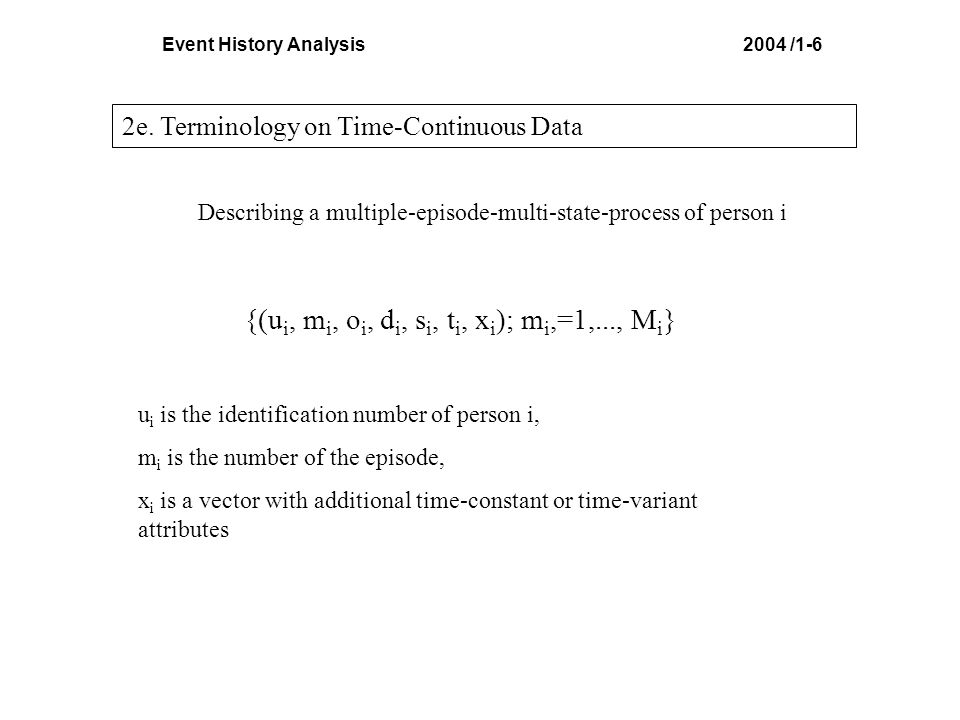 Event History Analysis 2004 /4-15 10i. Methods of Survival Analysis: Product-Limit Estimator