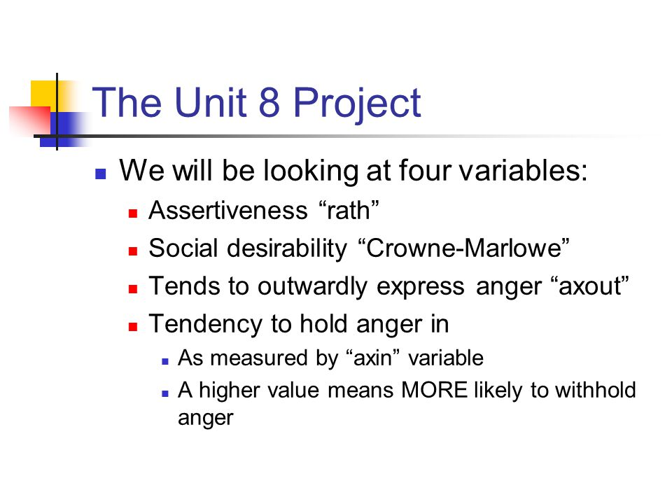 The Unit 8 Project For a latent factor to have a significant influence, we want the Eigenvalue to be greater than one (1).