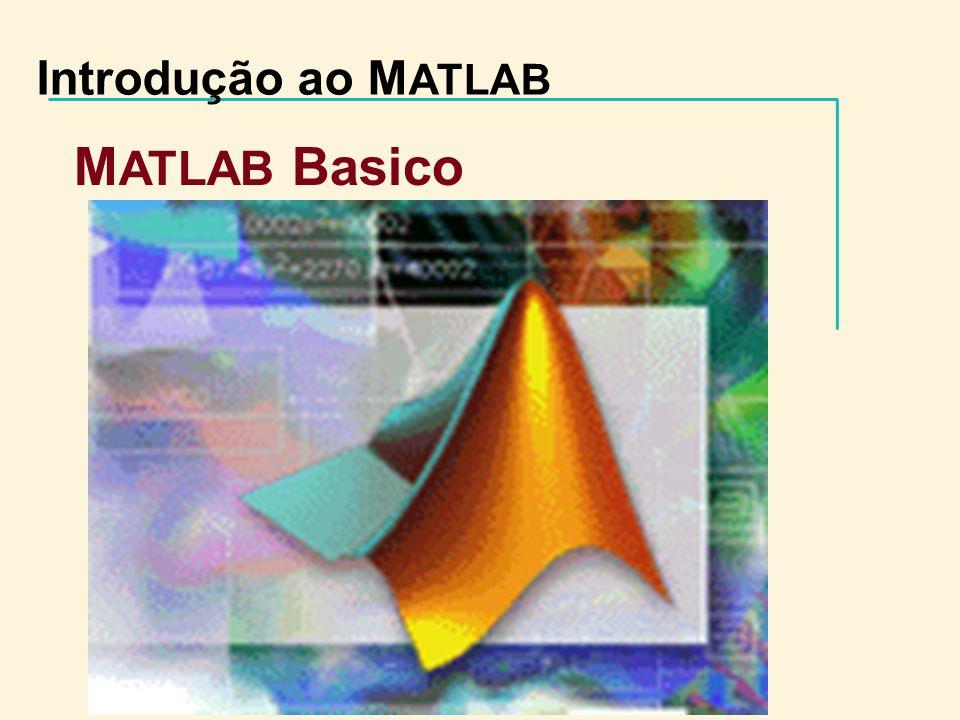 Introdução ao M ATLAB M ATLAB Basico www.opencadd.com.br