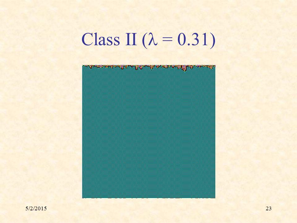 5/2/201523 Class II ( = 0.31)