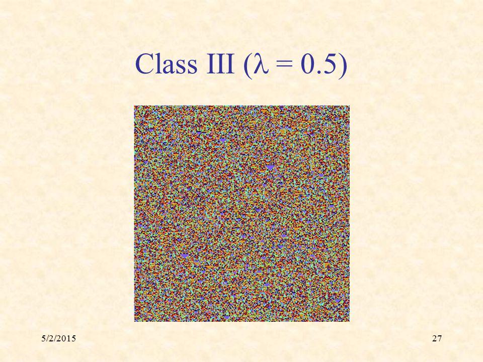 5/2/201527 Class III ( = 0.5)