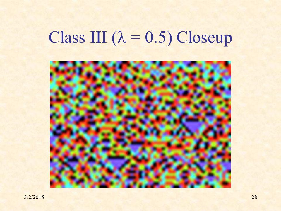 5/2/201528 Class III ( = 0.5) Closeup