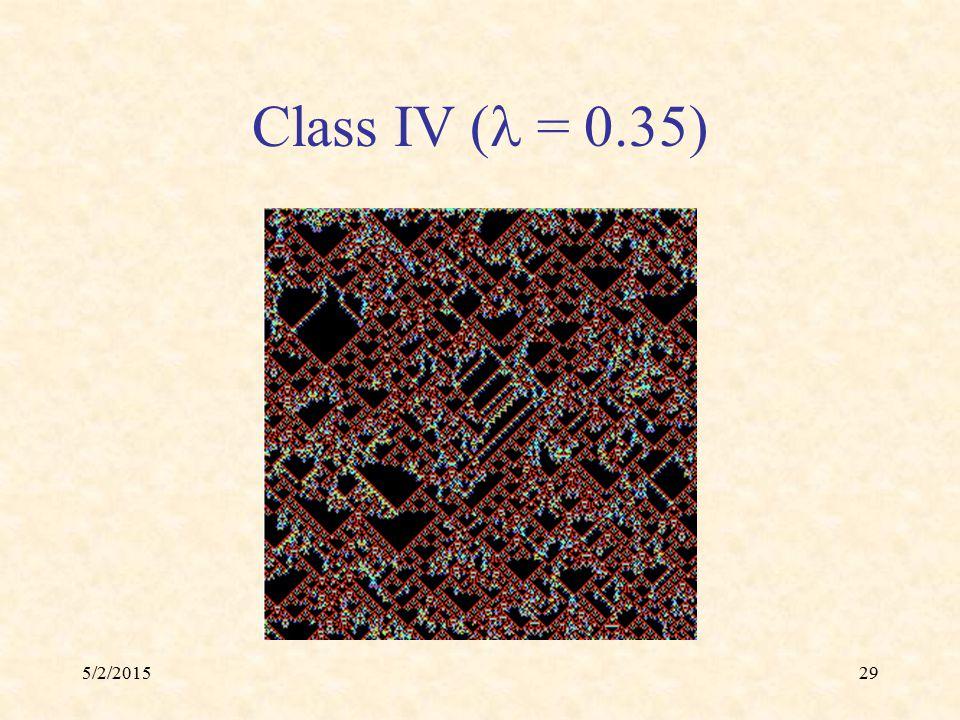 5/2/201529 Class IV ( = 0.35)
