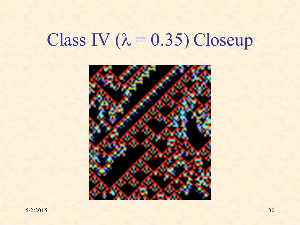 5/2/201530 Class IV ( = 0.35) Closeup