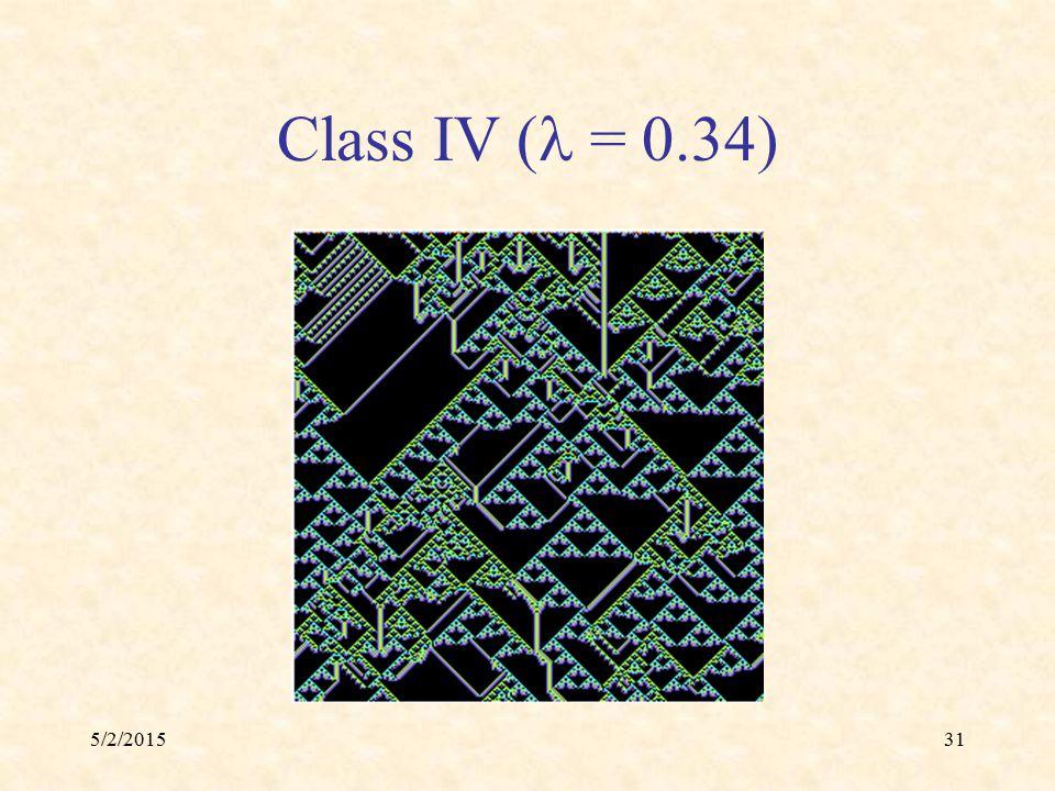 5/2/201531 Class IV ( = 0.34)