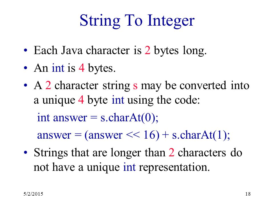 Hash Functions Two parts:  Convert key into an integer in case the key is not an integer.