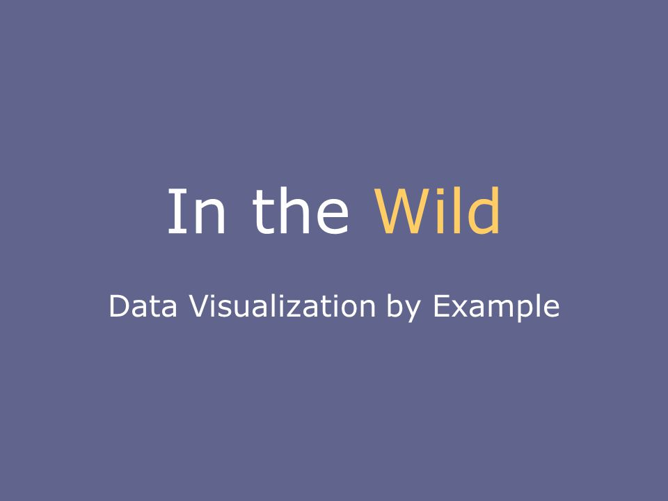 In the Wild Data Visualization by Example