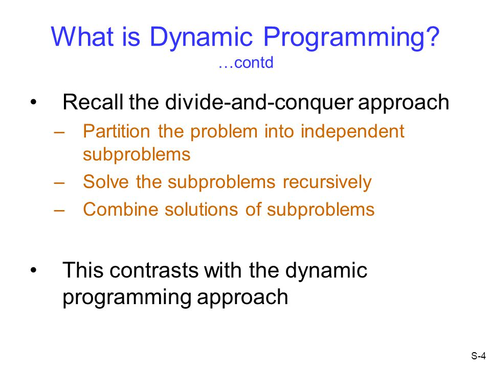 What is Dynamic Programming.