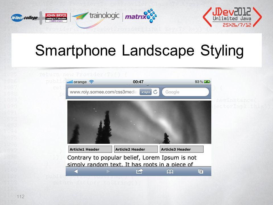 Smartphone Landscape Styling 112