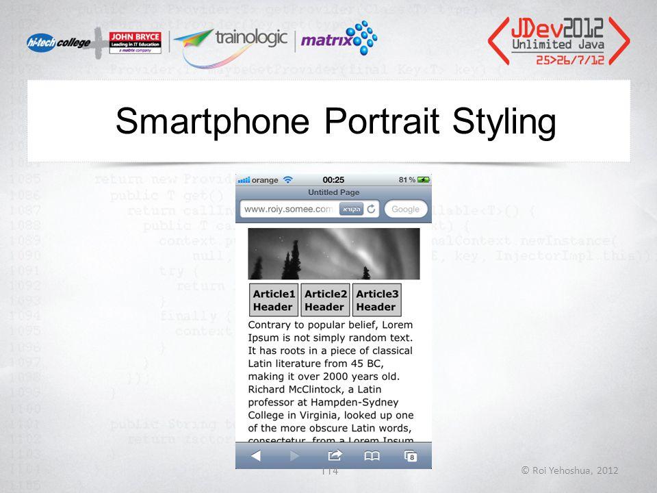 Smartphone Portrait Styling © Roi Yehoshua, 2012114