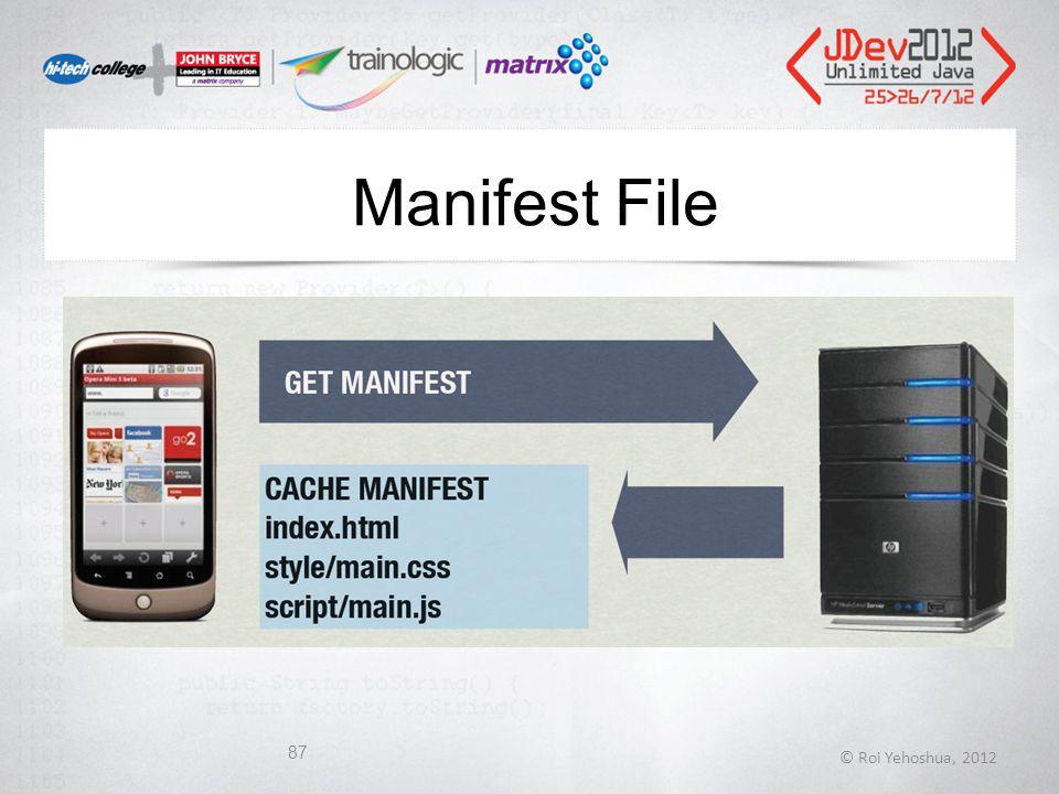 Manifest File © Roi Yehoshua, 2012 87