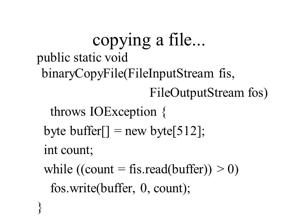 copying a file...