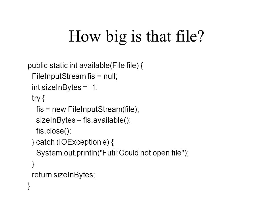 How big is that file.